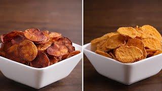 4 sabores de batata chips caseira