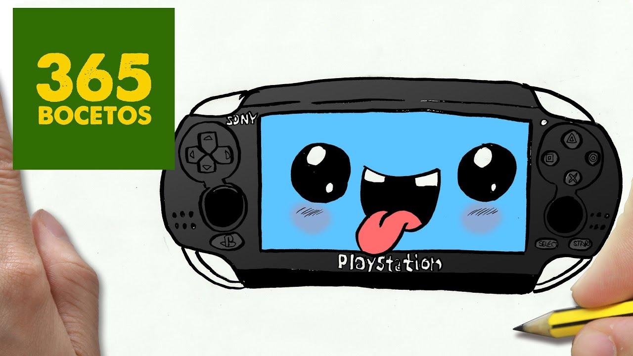 COMO DIBUJAR PSP VITA KAWAII PASO A PASO  Dibujos kawaii faciles