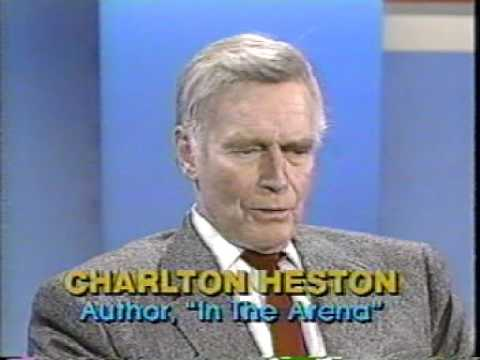"""S30E33 Firing Line with William F. Buckley """"Is Hollywood a Lost Cause?"""" guest Charlton Heston"""