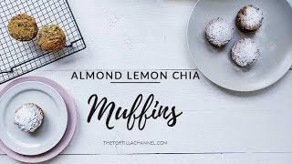 Almond lemon chia muffins