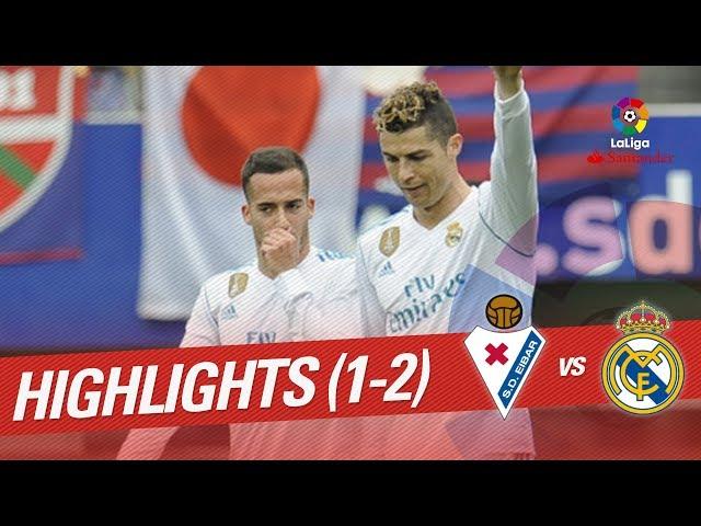 Resumen de SD Eibar vs Real Madrid (1-2)