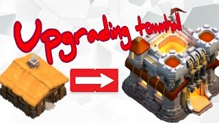 Clash of clans upgrading townhall level 1 to 11