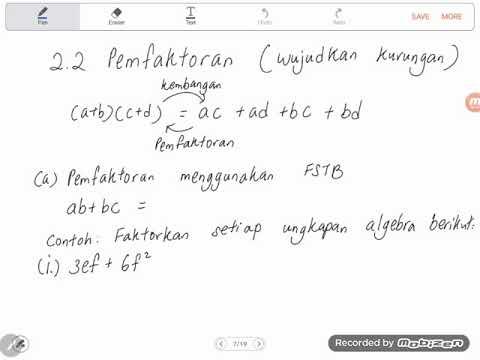 Soalan Matematik Tingkatan 2 Bab Pemfaktoran Dan Pecahan Algebra Kecemasan A