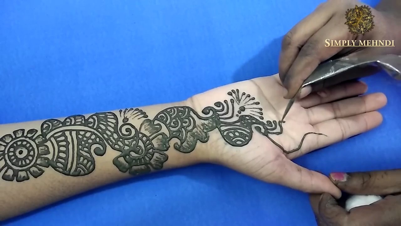Mehndi Designs Simple Full Hand : Simple arabic style mehndi for full