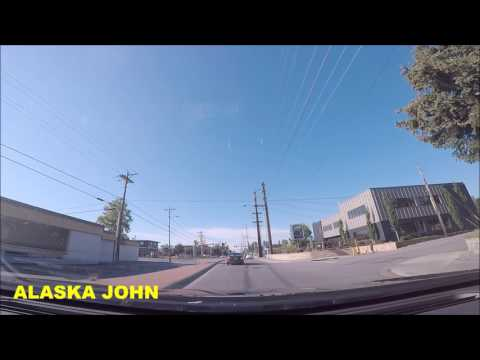 ALASKA DRIVING - Anchorage Sunny Evening  - July 5th 2017