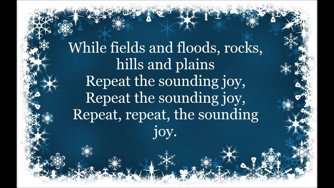 Joy To The World HD Lyrics Christmas Carol - YouTube