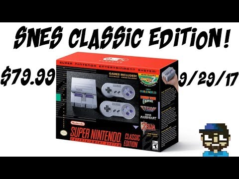 PREORDER NOW SNES CLASSIC EDITION CONFIRMED! STAR FOX 2! EARTHBOUND! FINAL FANTASY 3!