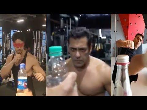 See Salman Khan beat Akshay Kumar,Tiger Shroff & Other Big Celebs in B0tt!e-Cap-Challenge Stunt Mp3