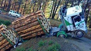 Dangerous Biggest Logging Wood Truck Heavy Equipment Operate skills Climbing Hills