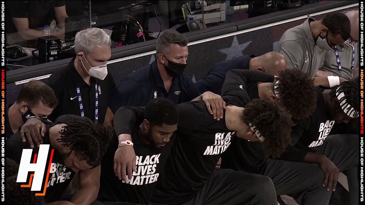 NBA Players Kneel During National Anthem on Restart's Opening ...
