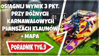 GET a HIGH SCORE of 3 on VARIOUS CARNIVAL BOARDS CLOWNS-tutorial WEEK 9 FORTNITE
