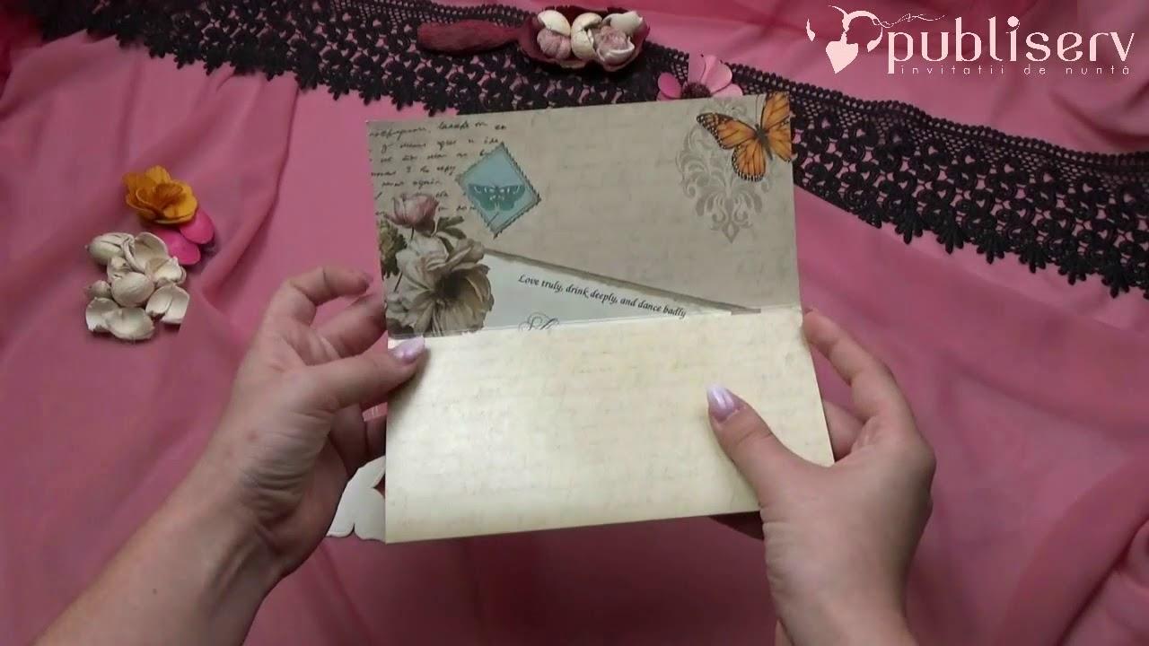 Invitatii De Nunta Catalog Elite Logodna Poza Fluturasi Flori