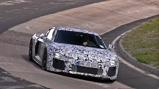 2015 Audi R8 V10 Spied Testing on the Nurburgring!