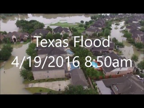 Cypress, Texas Flood - Drone - April 2016 Part 3
