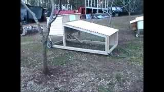 Diy Build A Chicken Tractor For Standard Breed Chickens Part 5 Final Video