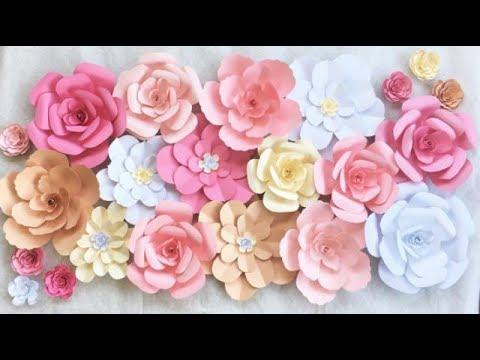 Flores De Cartolina Passo A Passo Sugestões De Decoração