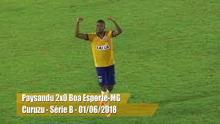 TV EDSON MATOSO - PRINCIPAIS LANCES PAYSANDU 2X0 BOA ESPORTE - MG
