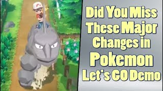 Pokemon Let's Go Pikachu and Eevee Demo Shows Big Changes?