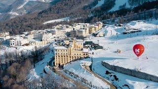 Красная Поляна популярный курорт готовится к горнолыжному сезону