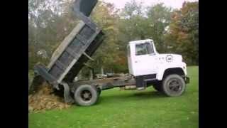 Ford LN8000 Dump Truck Hauling Dirt