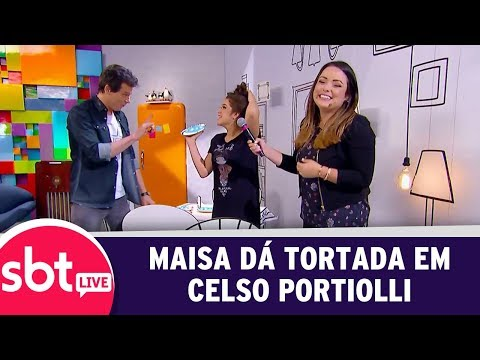 SBT Live Com Teleton+ - Maisa Dá Tortada Em Celso Portiolli | (09/10/17)