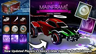 Best New Updated Player's Choice Crates Opening Rocket League