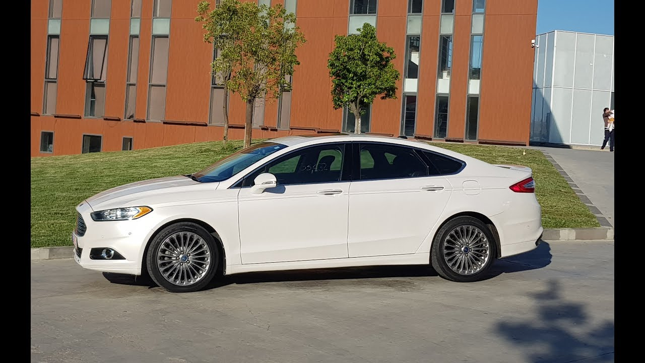 2017 Ford Fusion 2 0 Ecoboost >> Ford Fusion Titanium 2 0 Ecoboost Fwd Youtube