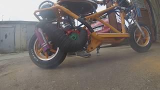 Корч, на базе Хонда tact 24, Сборка/обзор.Custom Honda 125cc! Балалайка 12