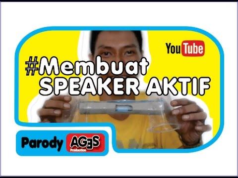 cara membuat speaker aktif dri bahan bekas  keren ala ages waw
