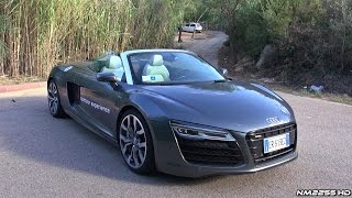 2014 Audi R8 V10 Spyder S-Tronic Start Up, Revs and Engine Sound