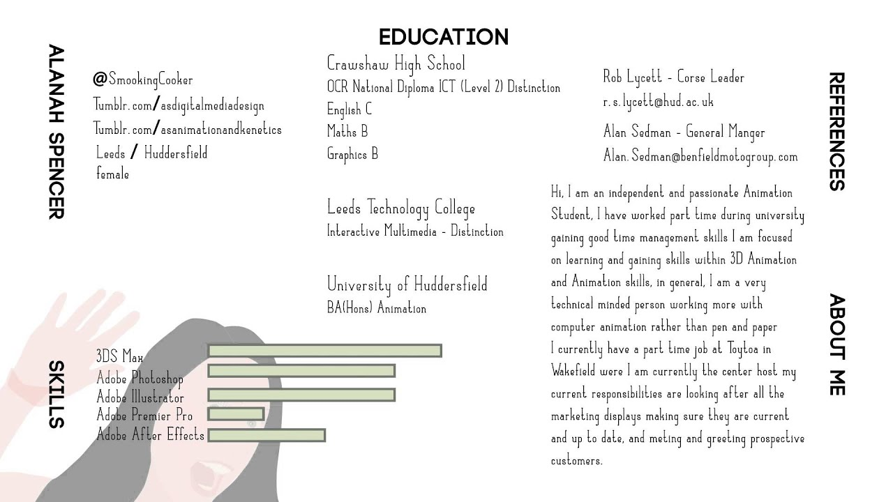 alanah spencer   animation student animated cv   youtubealanah spencer   animation student animated cv