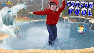 Our Frozen Pool is an ICE MONSTER! FUNnel V Vlog thumbnail