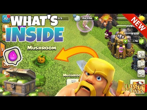 WHAT'S  iNSiDE The Mushroom ! ( Clash of clans ).
