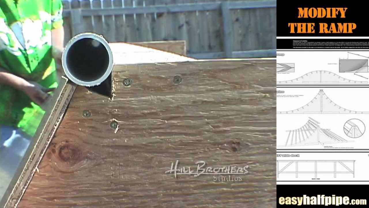 How to build a Halfpipe Step 6 COPING RAILS
