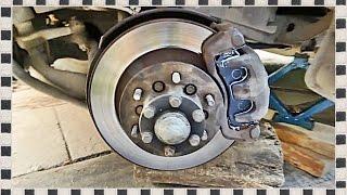 █ Замена передних тормозных колодок на Mitsubishi Pajero Sport, Часть 1
