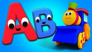 鲍勃列车字母歌曲 | 字母为孩子们 | 学习字母 | 孩子们的教育歌曲 | Bob The Train | Alphabet Song For Kids | Learning For Kids