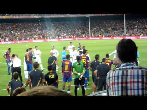 """The FIGHT"" FC Barcelona - Real Madrid 3-2 Supercopa 17/08/11"
