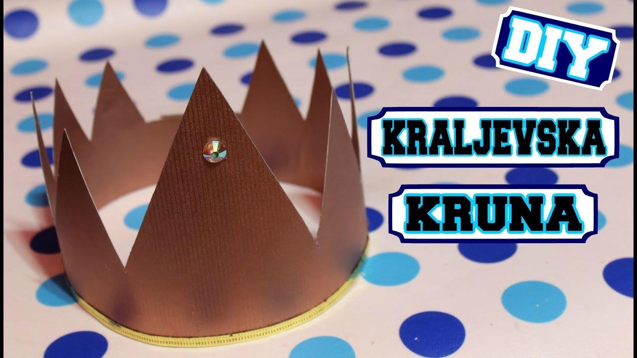 Kako napraviti kraljevsku krunu za maskenbal / Como hacer corona de rey / DIY Royal crown