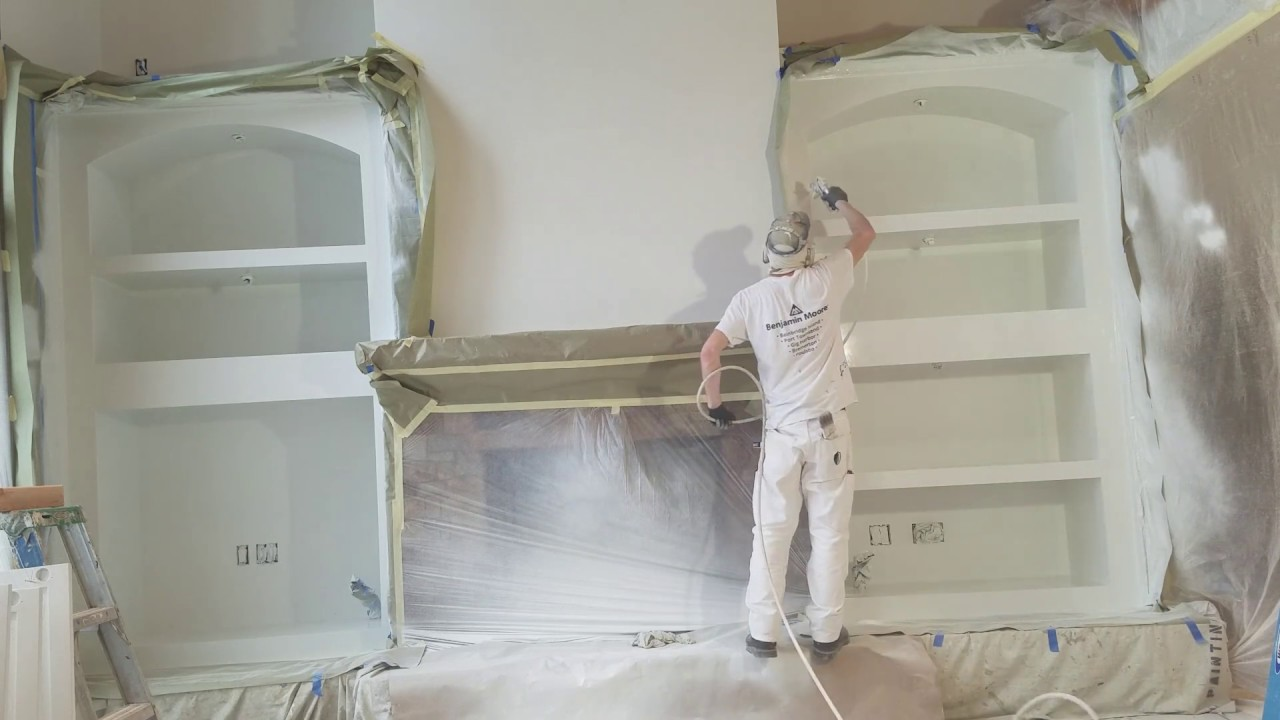 How Professionals Spray Paint Built In Cabinets, Using Cabinet Coat By  Insl X.
