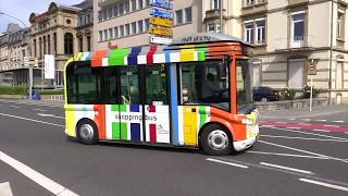 Luxembourg City, Luxembourg - Colorful Mini Bus (2018)