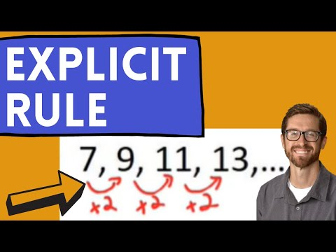 Explicit Rule For Arithmetic Sequences