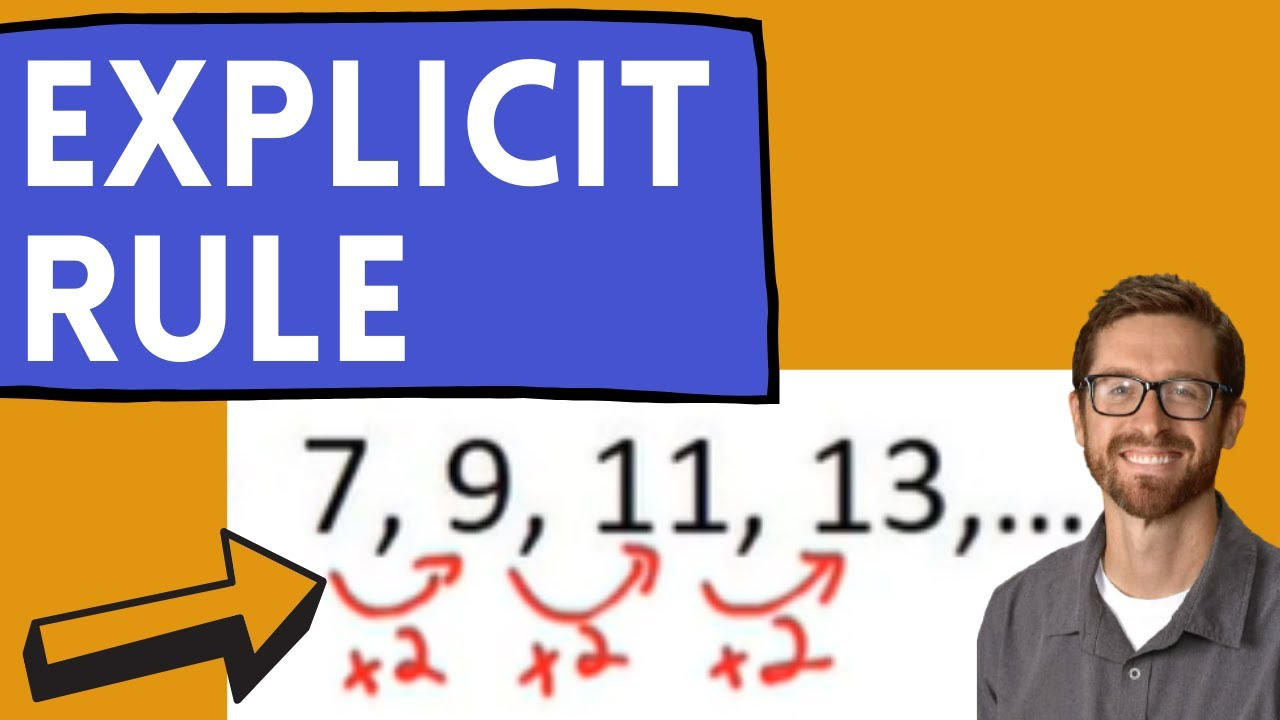 explicit rule for arithmetic sequences  youtube