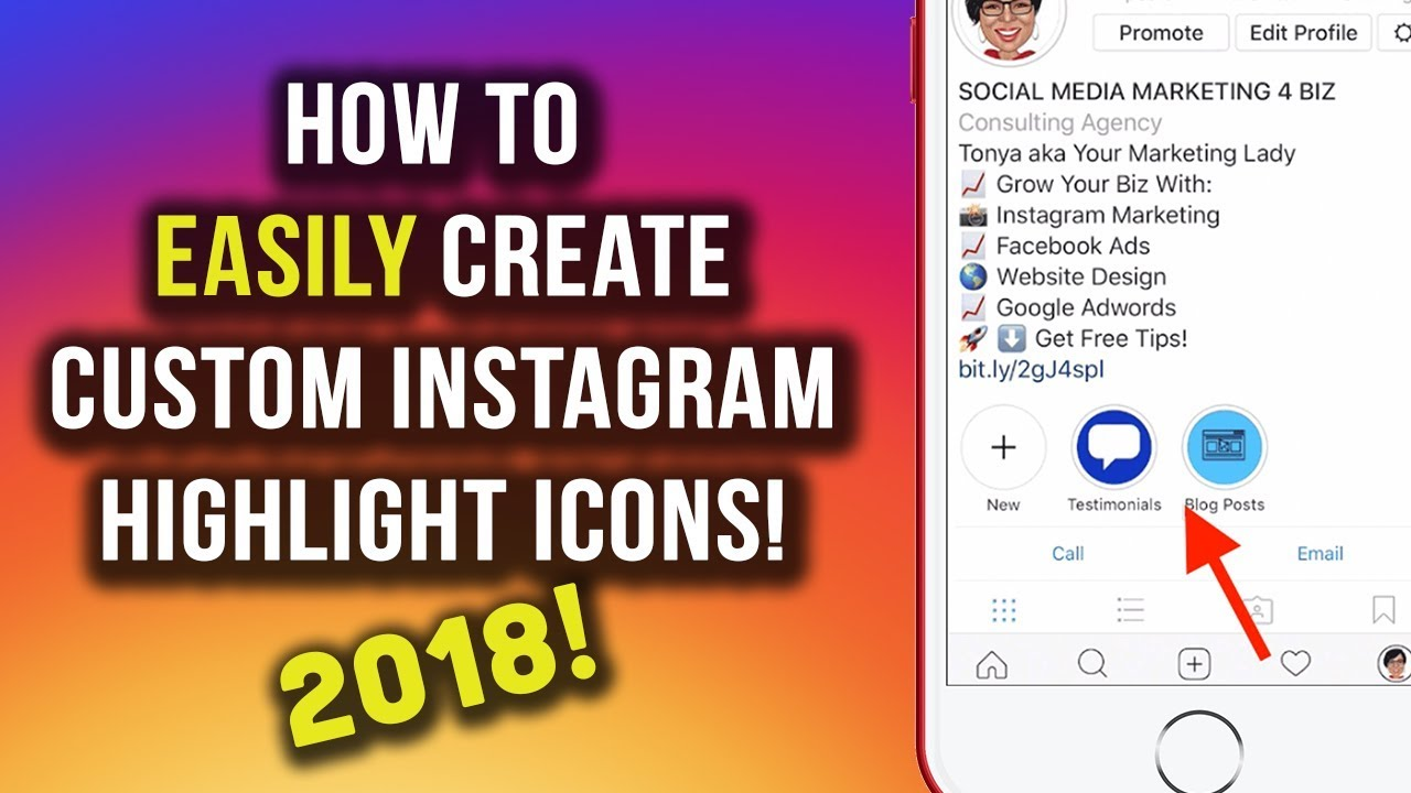 how to make instagram story highlight icons