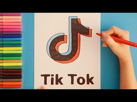 How To Draw Tik Tok Logo Youtube