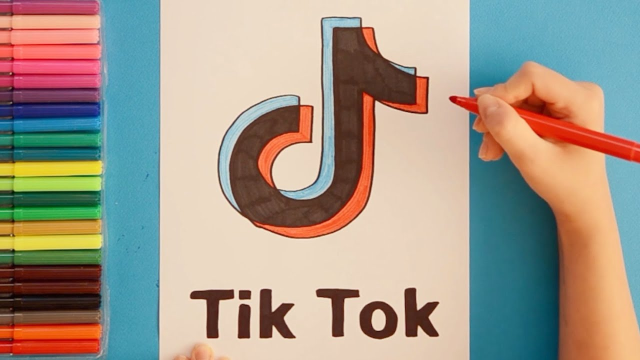 How To Draw Tik Tok Logo