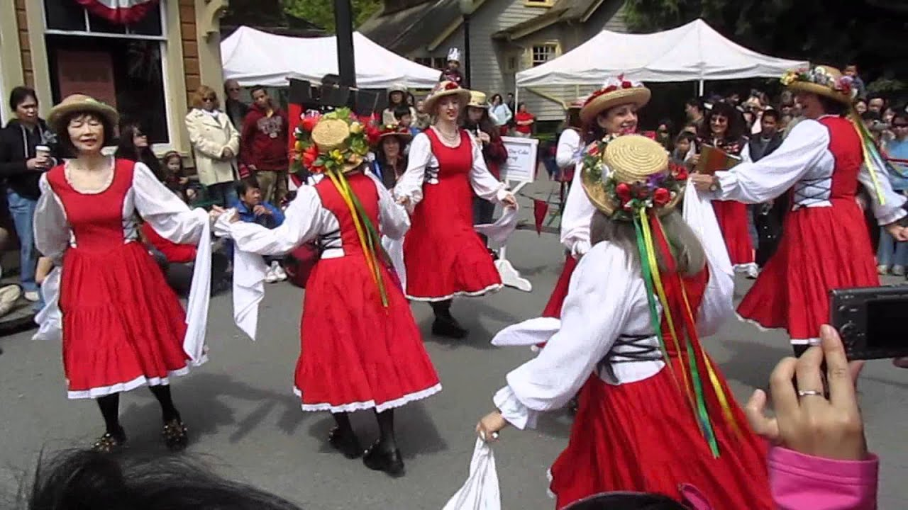 Traditional Morris Dancing On Victoria Day In Burnaby BC Canada - Canadian traditions