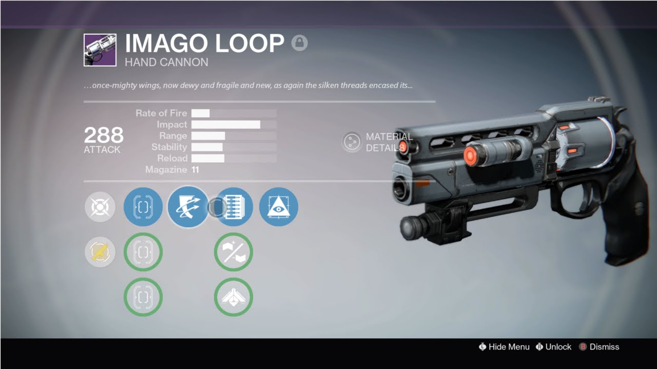 Destiny imago loop legendary hand cannon review youtube