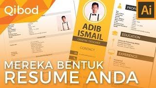 (Qibod): Adobe Illustrator - Membuat Resume