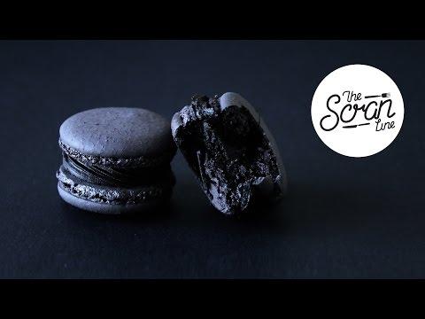 BLACK TRUFFLE MACARONS - The Scran Line
