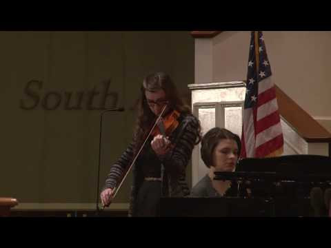 Amazing Grace given by Natalie Hibbard and Lydia Scoggins